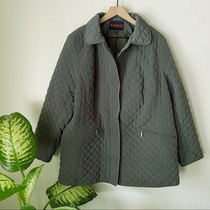 Avenue | Olive Quilted Coat